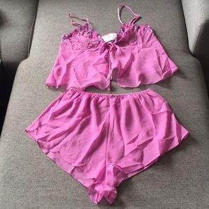 Other - Pink lingerie set size medium